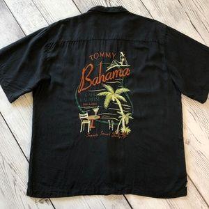 Tommy Bahama Cafe Paradise Silk Camp Shirt Mens L